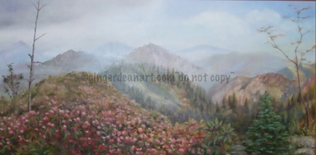 "Painting ""To LeConte"" by Ginger Dean"
