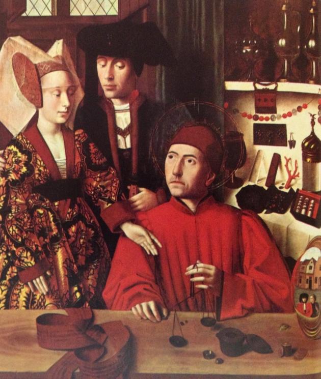 """Petrus Christus """"Legend of Saints Eligius and Godeberta"""" 1449"""