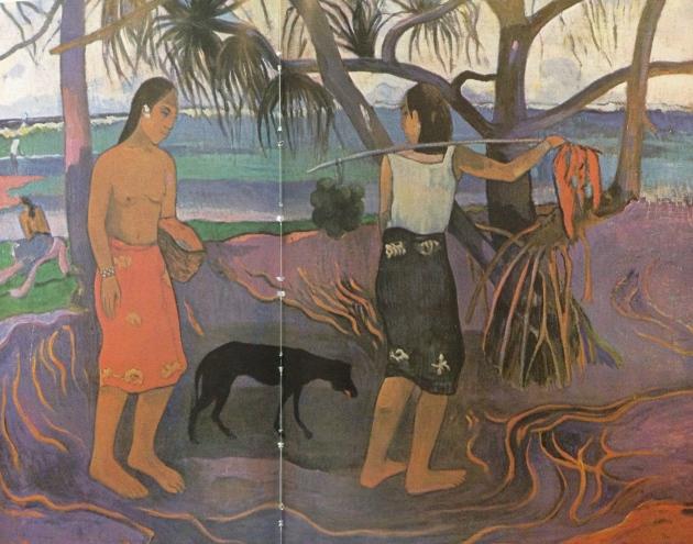 """""""I Raro Te Oviri"""" by Gauguin 1891"""