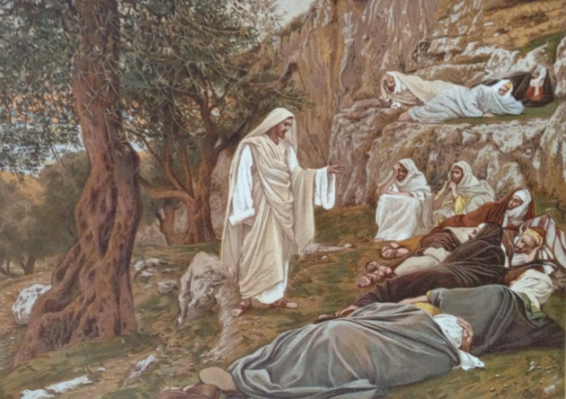 """Jesus Commanding His Disciples to Rest""Tissot Painting"