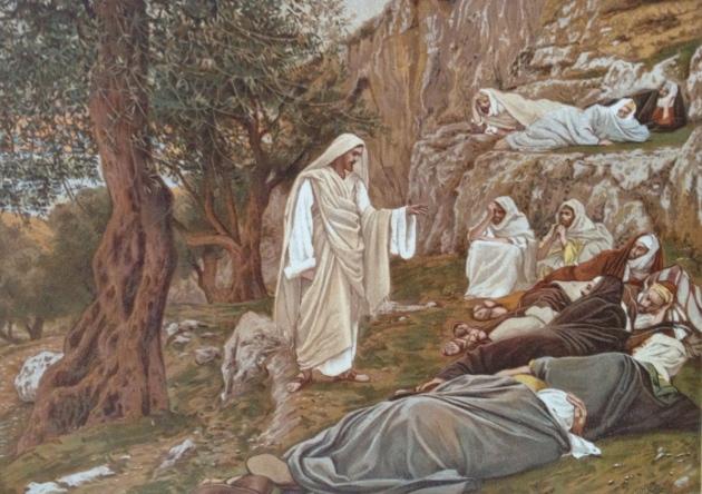 """Jesus Commanding His Disciples to Rest""Tissot Painting"