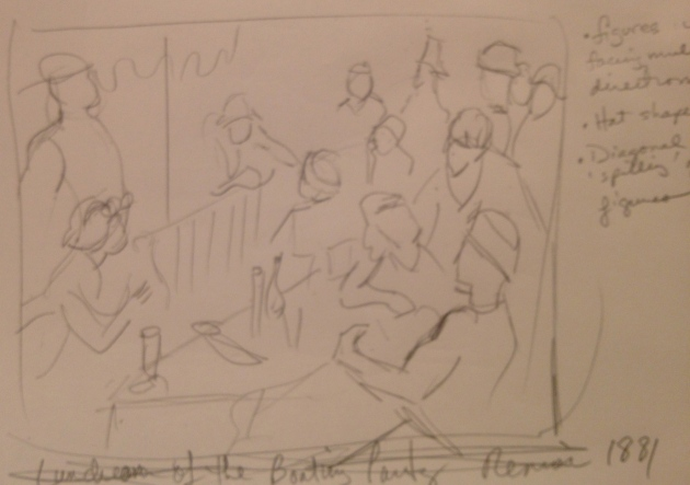 Sketch of Renoir Painting