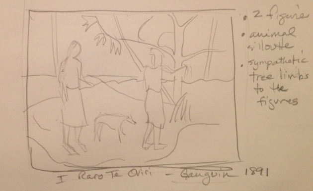 Sketch of Guauguin Painting