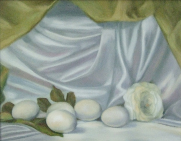 "Art Club Assignment ""Still Life With Eggs"" by Ginger Dean"