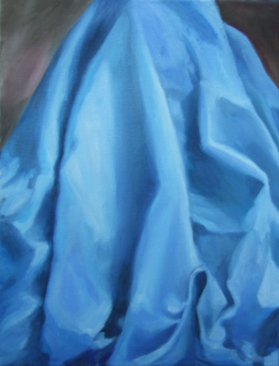 Blue Drapery Study by Ginger Dean